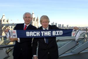 Chairman of England 2018 Lord Triesman and the Mayor