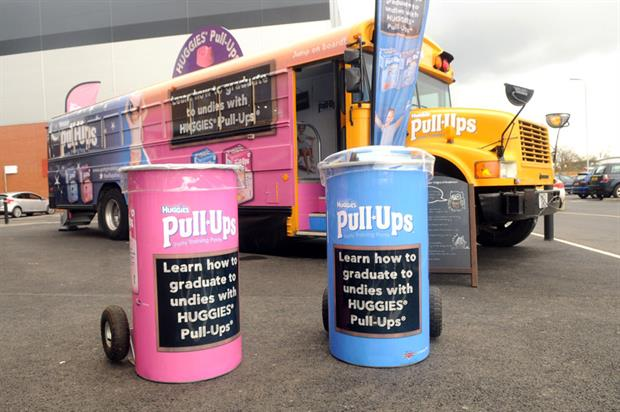 The Huggies' bus will visit retailers throughout the UK