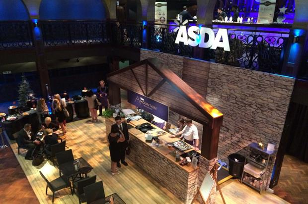 Asda's Christmas showcase featured a Mountain Restaurant with live cooking demonstrations