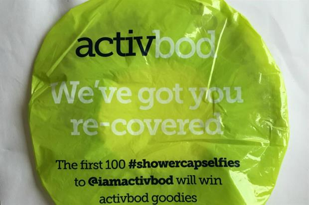 Approximately 30,000 'shower caps' will be handed out as part of the stunt