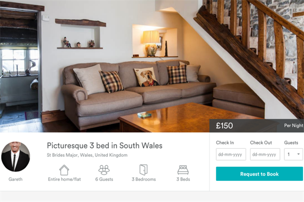 Gareth Thomas has listed his Welsh home on Airbnb (airbnb.co.uk)