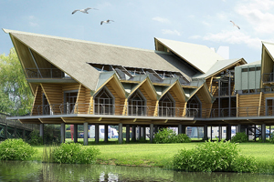 The 1,200 sqm Riverside clubhouse venue in Stratford-upon-Avon