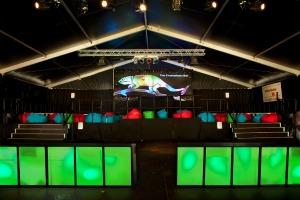 The Chameleon bar at Glastonbury festival