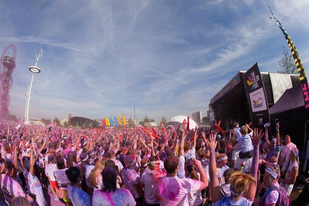 Dulux worked with agency Because for its activations at last year's Colour Run