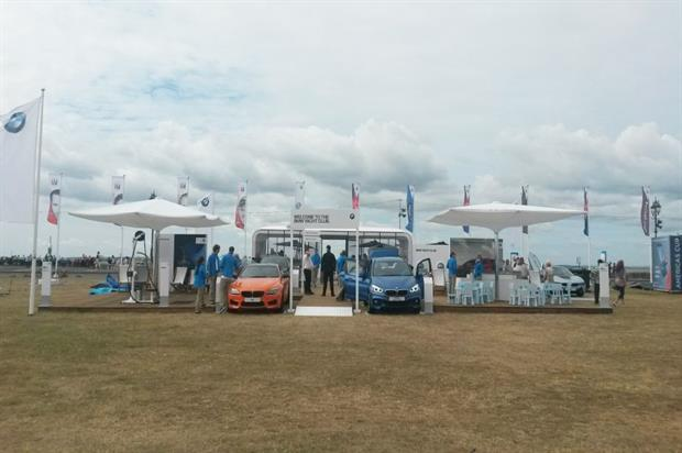 Activations at the America's Cup include the BMW Yacht Club