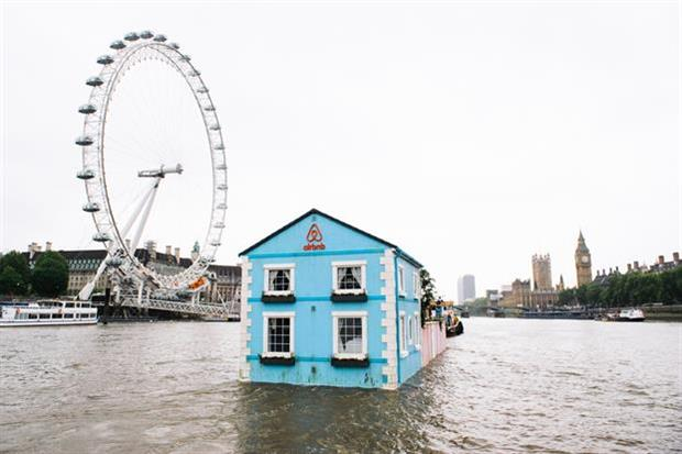 Airbnb's houseboat floated down the Thames for five days in May (Mikael Buck/Airbnb)