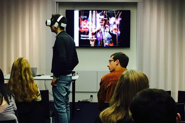 Attendees could don VR headsets to experience how the tech can immerse consumers in a brand's world