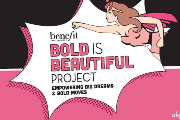 Benefit: staging pink-themed pop-up