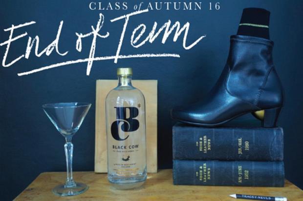 Black Cow vodka: classroom theme