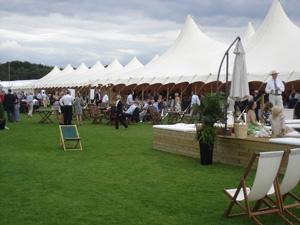 Ascot's bamboo tent