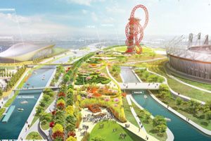 "Designs revealed for ""Olympic Pleasure Gardens"" event space in Olympic Park"