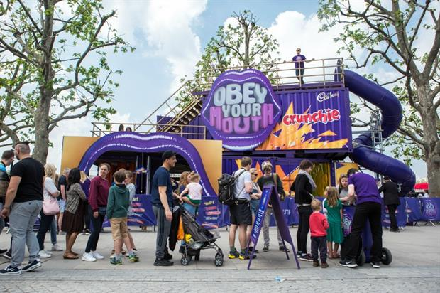 Cadbury experience is touring UK festivals