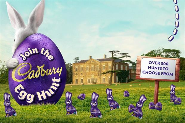 Cadbury: easter egg hunt in London is one of many being run across the UK