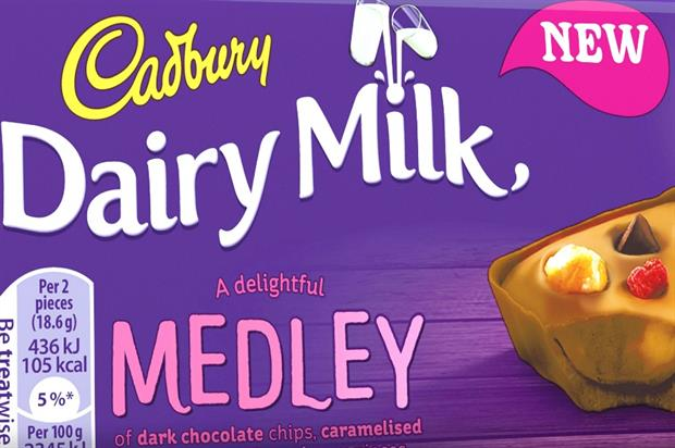 The pop-up spa take its inspiration from Cadbury's new Dairy Milk Medley product