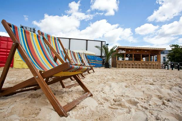 Camden Beach at the Roundhouse will feature sunloungers, pop-up bars and food stalls