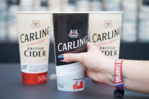 Carling are one of many brands activating at V Festival