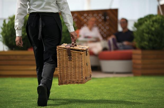 Celebrity Cruises brought its Lawn Club to commuters at London's Waterloo station earlier this year
