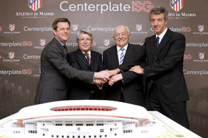 Centerplate and ISG celebrate with the Club Atlético de Madrid team