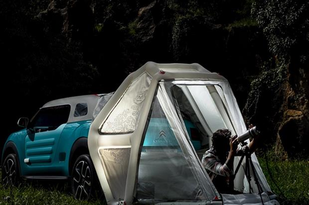 The Cactus M concept car is said to offer a B&B experience (cactusm.citroen.co.uk)