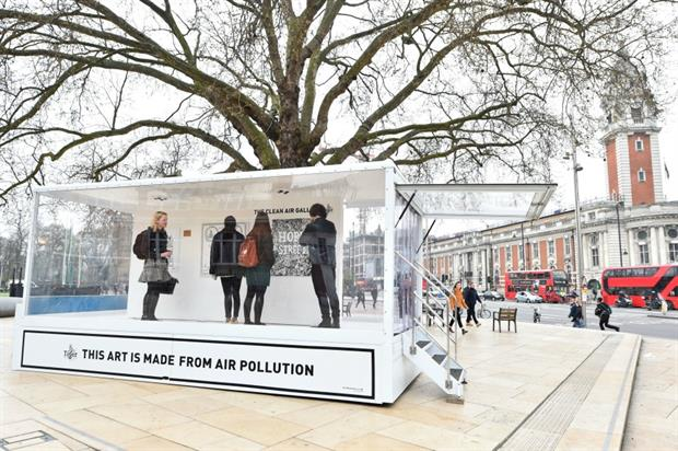 Tiger Beer teams up with Graviky Labs for Clean Air Gallery