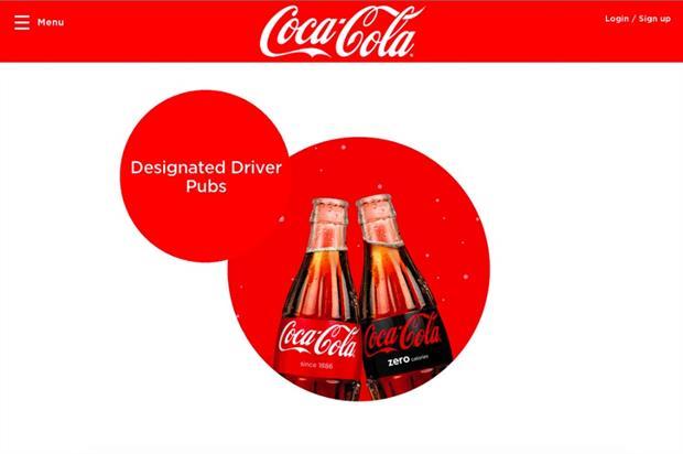 Coca-Cola has created the Designated Driver Pub Finder website to support the campaign (happiness.coca-cola.com/uk/en/)