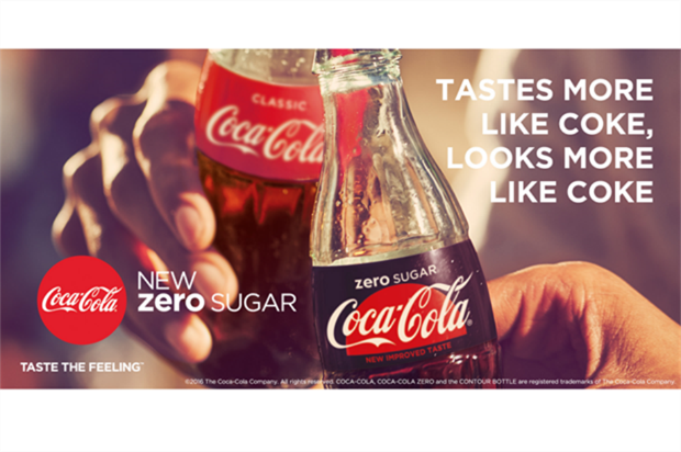 Coca-Cola: new zero sugar campaign