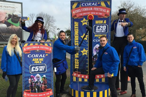 Circus teams are encouraging racegoers to download Coral's app to place their bets