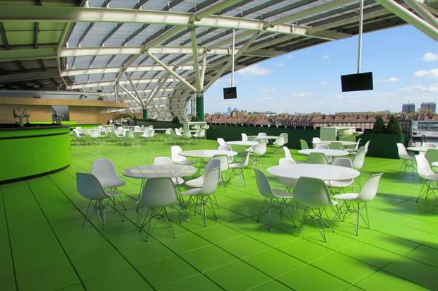 Summer and Christmas parties can be held on the Corinthian Roof Terrace
