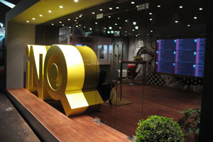 Slice constructs high-tech stand for INQ Mobile: gallery