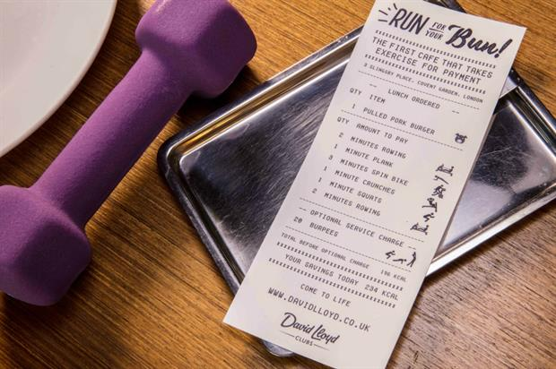 Pay for your meals with calories at David Lloyd Leisure