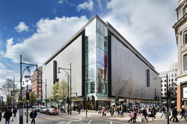 Debenhams' Oxford Street store: hosting beauty masterclass