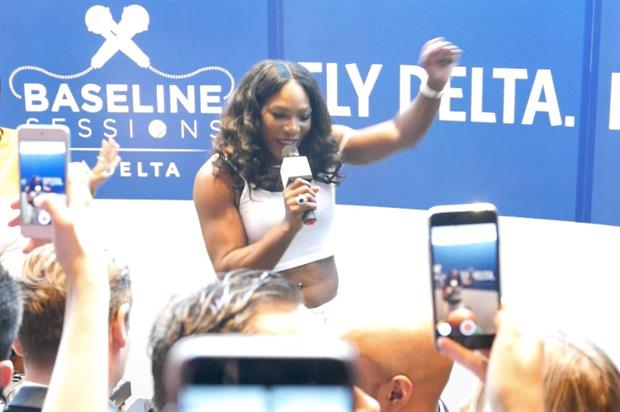 Delta Air Lines: private karaoke session in London with Serena Williams
