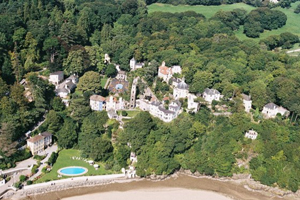 An aerial view of Portmeirion