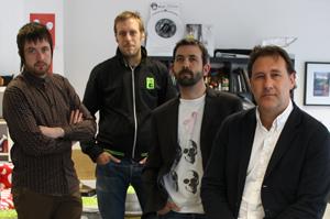 From left: Mat O'Brien, Jez Cripps, Allan Guy, Nick Presley