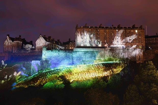 Projection mapping marks start of Edinburgh International Festival