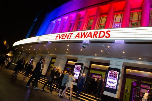 The 2016 Event Awards will take place at the Eventim Apollo on 13 October