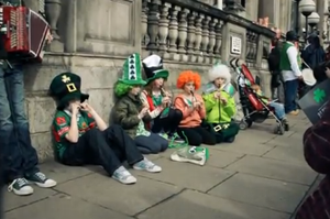 St Patrick's Day in London last year