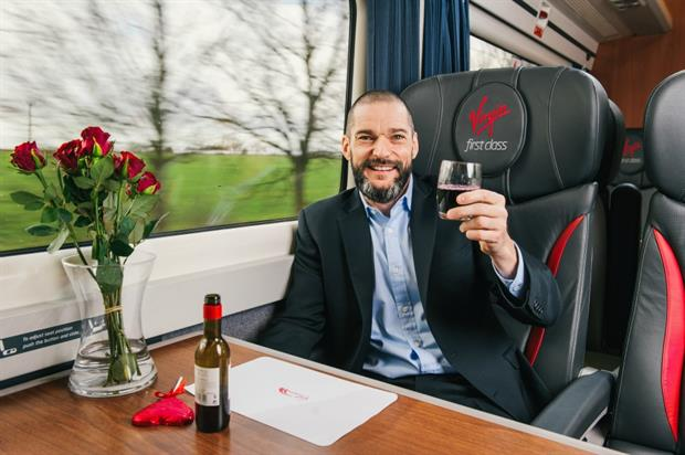 Fred Sirieix, from Channel 4's First Dates, will be the host in the Virgin Trains love carriage