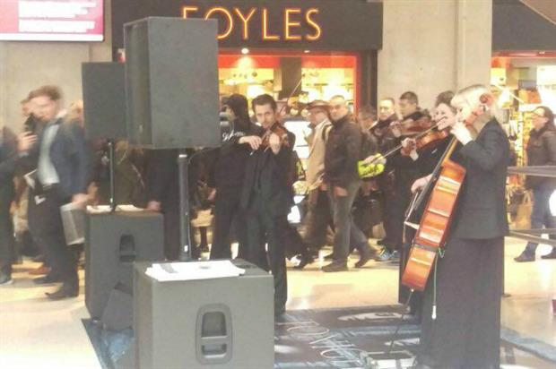 The musicians can be found within London's Waterloo and Liverpool Street stations