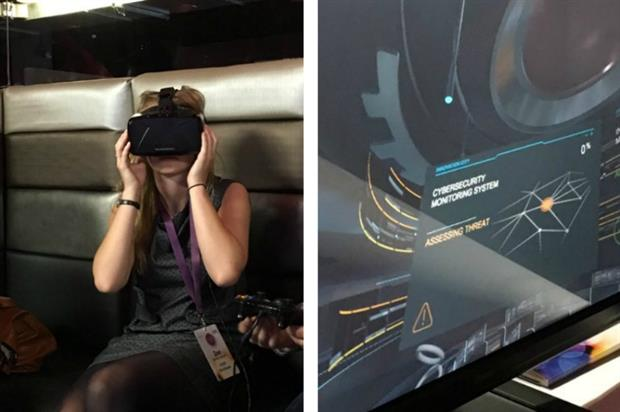 GPJ's Nick Riggall showcased a virtual reality experience created for telecoms company AT&T