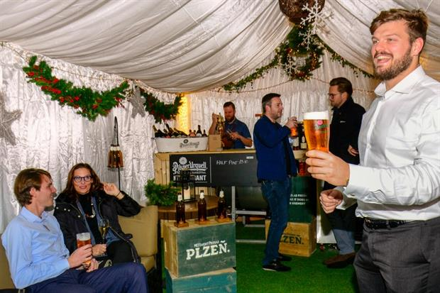 Galvin Hop and Pilsner Urquell team up top launch winter garden