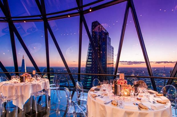 Searcys at the Gherkin will be transformed into a seaside pop-up