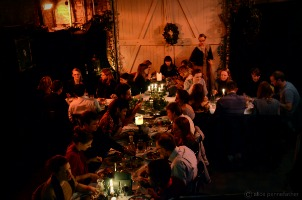 Gingerline diners convene in a secret location