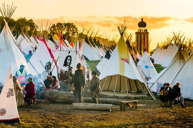 Glastonbury: the event claimed second spot in the 2016-17 CoolBrands list