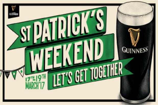 Guinness: getting in the mood for St Patrick's Day