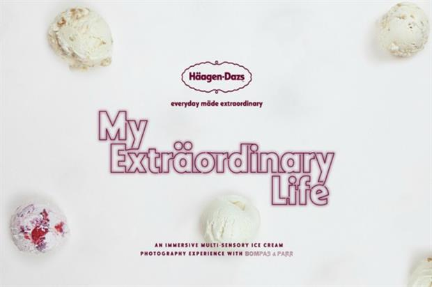 Multi-sensory ice cream experience
