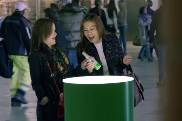 Heineken has placed interactive, GPS-enabled bottles around Amsterdam