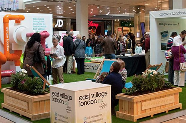 iD created a range of multi-sensory stands to drive interest in east village – the former olympic athlete's village