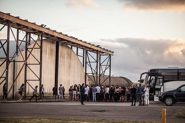 The Spotify event was held at an ex-RAF base