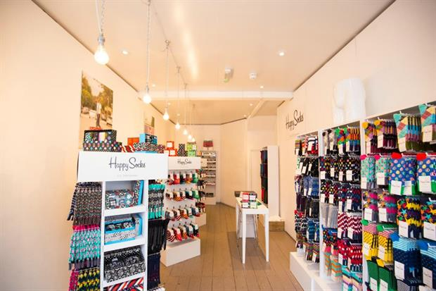 Storefront work with Happy Socks and Kodak to launch pop-ups